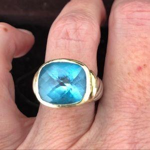 David Yurman Blue Topaz Albion Ring
